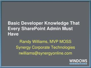 Basic Developer Knowledge That Every SharePoint Admin Must Have