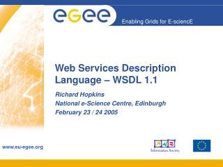 Web Services Description Language – WSDL 1.1
