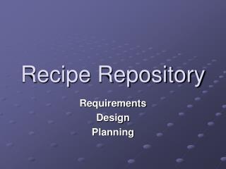 Recipe Repository