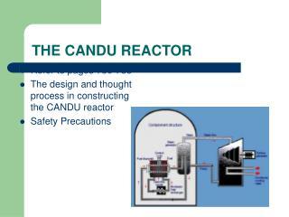 THE CANDU REACTOR