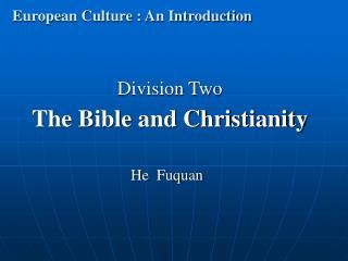 European Culture : An Introduction
