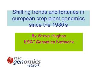 Shifting trends and fortunes in european crop plant genomics since the 1980's