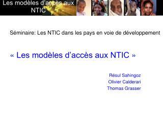 Séminaire: Les NTIC dans les pays en voie de développement