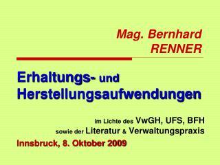 Mag. Bernhard RENNER