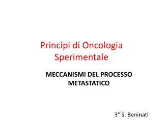Principi di Oncologia Sperimentale