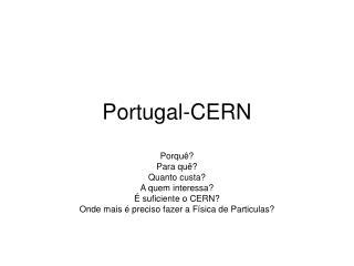 Portugal-CERN