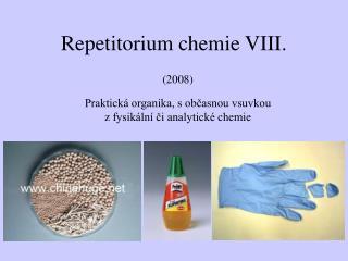 Repetitorium chemie VIII.