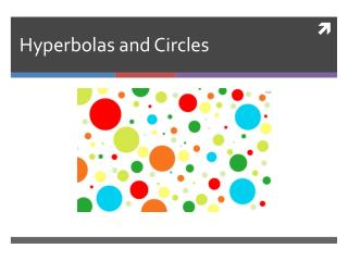 Hyperbolas and Circles