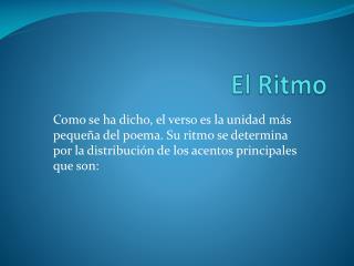 El  Ritmo