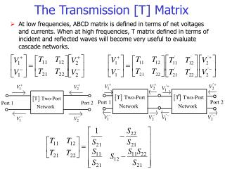 The Transmission [T] Matrix