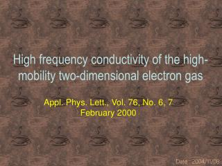 High frequency conductivity of the high-mobility two-dimensional electron gas