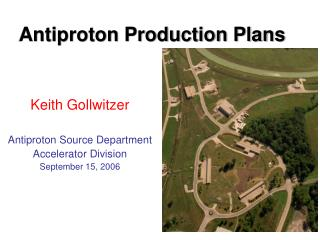 Antiproton Production Plans