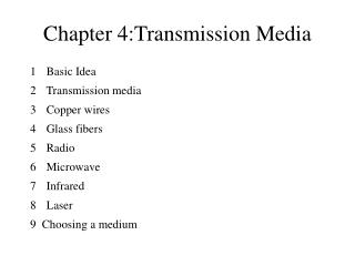 Chapter 4: Transmission Media