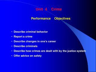 Unit  4    Crime