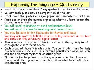 Exploring the language – Quote relay