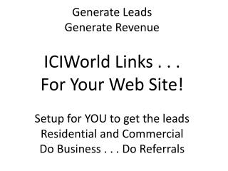 It is Listings that generate leads