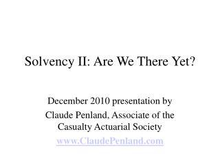 Solvency II: Side Effects