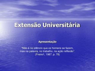 Extens�o Universit�ria