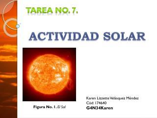 Tarea No. 7.  ACTIVIDAD SOLAR