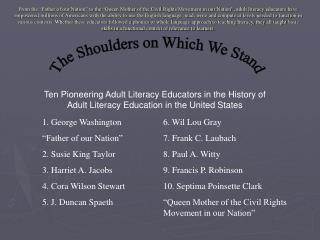 The Shoulders on Which We Stand
