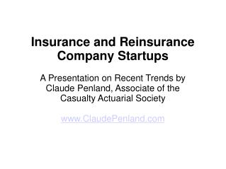 Wonderful Startups among Insurers and Reinsurers