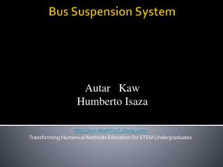 Bus Suspension System