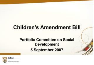Children's Amendment Bill