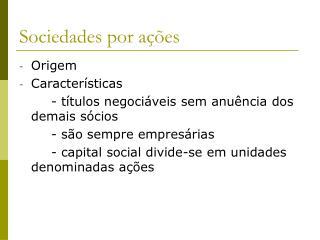 Sociedades por a��es