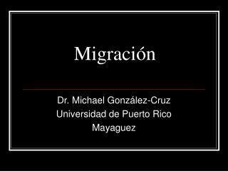 Migraci�n