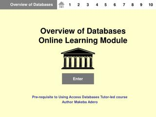 Overview of Databases Online Learning Module