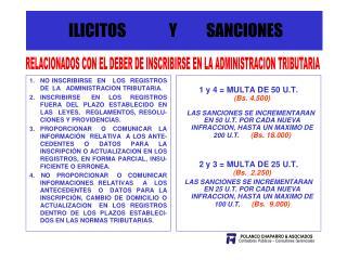 ILICITOS              Y SANCIONES