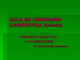 AULA DE INMERSIÓN LINGÜÍSTICA ( Oviedo )