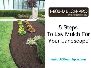 How To Lay Mulch For Your Landscape