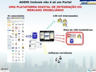 ADEMI Imóveis não é só um Portal UMA PLATAFORMA DIGITAL DE INTEGRAÇÃO DO MERCADO IMOBILIÁRIO