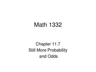 Math 1332