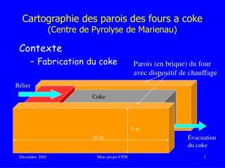 Cartographie des parois des fours a coke (Centre de Pyrolyse de Marienau)