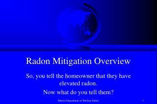 Radon Mitigation Overview