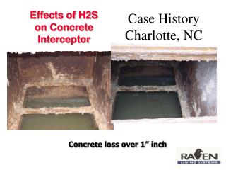 Effects of H2S  on Concrete Interceptor