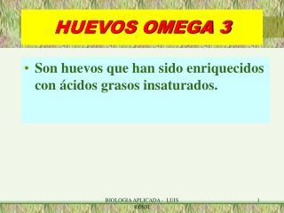 HUEVOS OMEGA 3