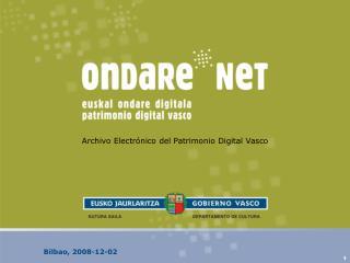 Archivo Electrónico del Patrimonio Digital Vasco