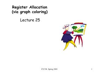 Register Allocation (via graph coloring)