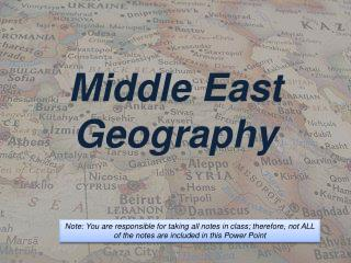 Middle East Geography