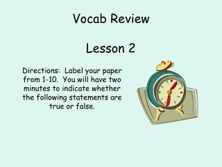 Vocab Review Lesson 2