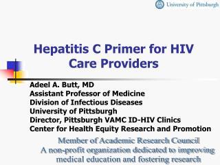 Hepatitis C Primer for HIV Care Providers