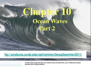Chapter 10     Ocean Waves Part 2