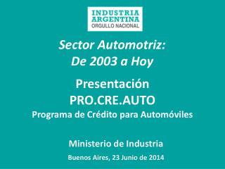 Sector Automotriz:   De 2003 a Hoy