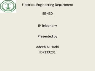 Electrical  Engineering Department EE-430