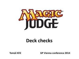 Deck checks