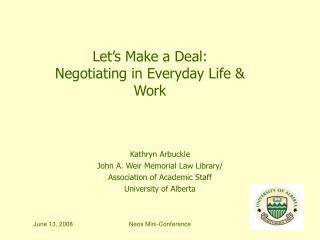 Kathryn Arbuckle John A. Weir Memorial Law Library/ Association of Academic Staff