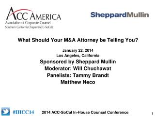 What Should Your M&A Attorney be Telling You?